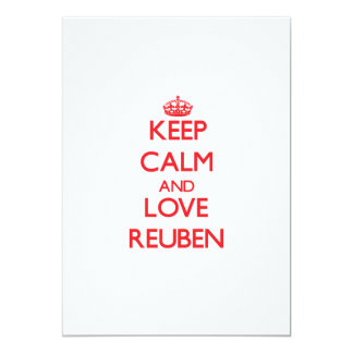 "Keep Calm and Love Reuben 5"" X 7"" Invitation Card"