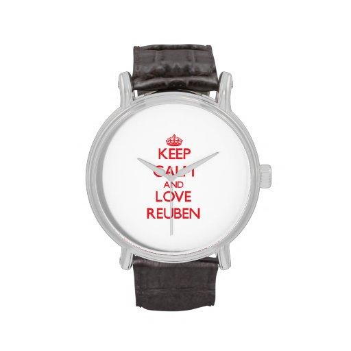 Keep Calm and Love Reuben Wristwatch