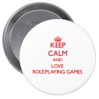 Keep calm and love Role-Playing Games Button
