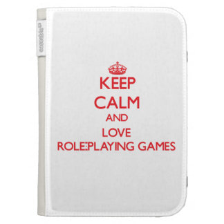 Keep calm and love Role-Playing Games Kindle 3 Cases