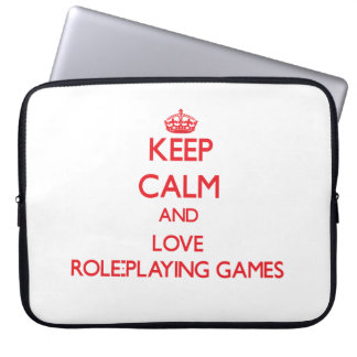Keep calm and love Role-Playing Games Computer Sleeves