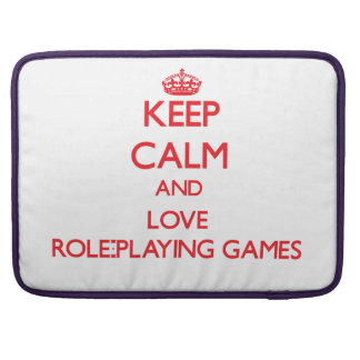 Keep calm and love Role-Playing Games Sleeves For MacBooks