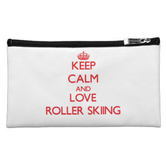 Keep calm and love Roller Skiing Cosmetic Bag