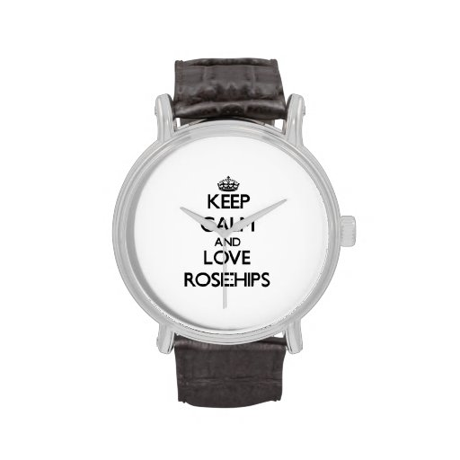 Keep calm and love Rose-Hips Wrist Watch