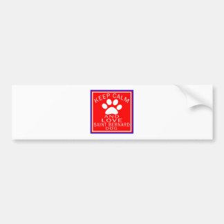 Keep Calm And Love Saint Bernard Bumper Sticker