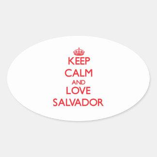 Keep Calm and Love Salvador Oval Sticker