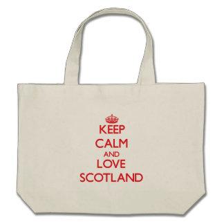 Keep Calm and Love Scotland Canvas Bag