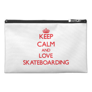 Keep calm and love Skateboarding Travel Accessories Bags