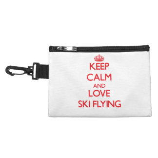 Keep calm and love Ski Flying Accessory Bags