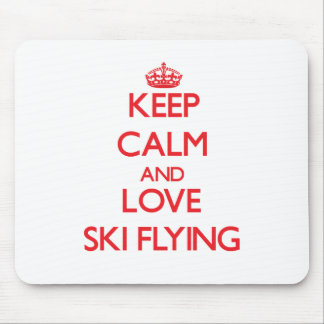 Keep calm and love Ski Flying Mouse Pad
