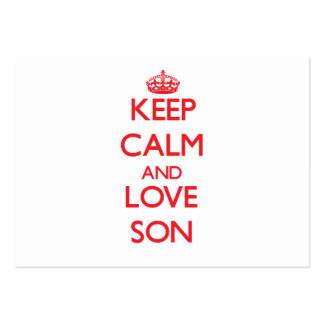 Keep Calm and Love Son Business Card Templates
