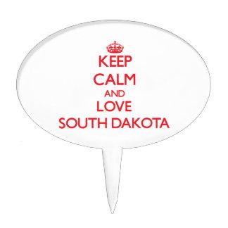 Keep Calm and Love South Dakota Cake Pick