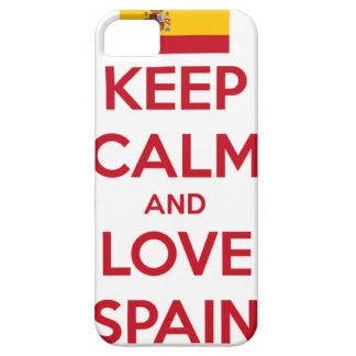 Keep Calm and Love Spain Barely There iPhone 5 Case