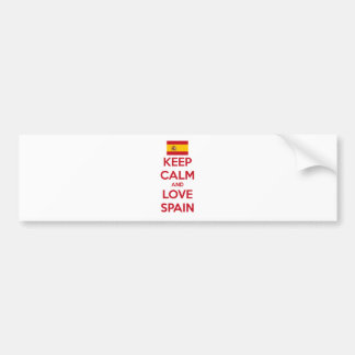 Keep Calm and Love Spain Bumper Sticker