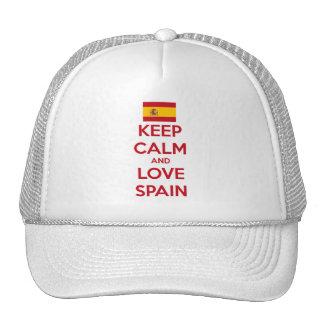 Keep Calm and Love Spain Cap