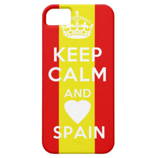 kEEP CALM AND LOVE SPAIN iPhone 5 Case