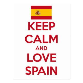Keep Calm and Love Spain Postcard