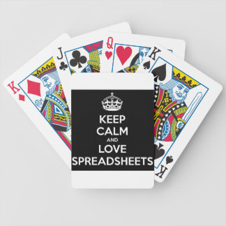 KEEP CALM AND LOVE SPREADSHEETS BICYCLE PLAYING CARDS