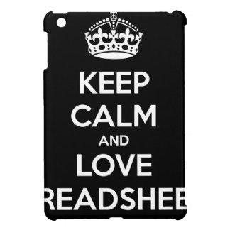 KEEP CALM AND LOVE SPREADSHEETS iPad MINI COVER