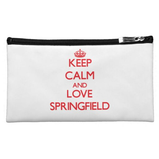 Keep Calm and Love Springfield Cosmetics Bags