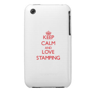 Keep calm and love Stamping iPhone 3 Covers