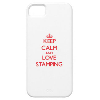 Keep calm and love Stamping iPhone 5/5S Covers