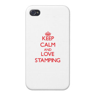 Keep calm and love Stamping Covers For iPhone 4