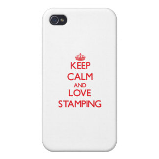 Keep calm and love Stamping Cover For iPhone 4