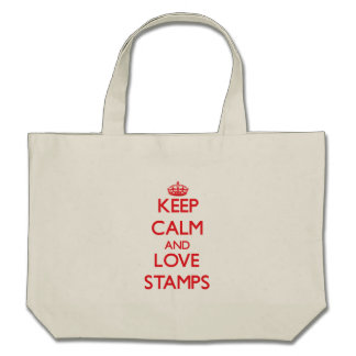 Keep calm and love Stamps Canvas Bags