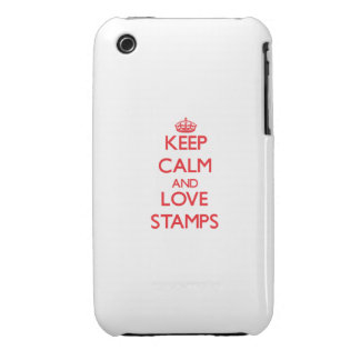 Keep calm and love Stamps iPhone 3 Case-Mate Cases