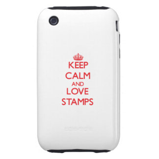 Keep calm and love Stamps Tough iPhone 3 Cases
