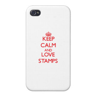 Keep calm and love Stamps iPhone 4 Case