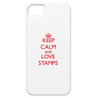Keep calm and love Stamps iPhone 5 Cases