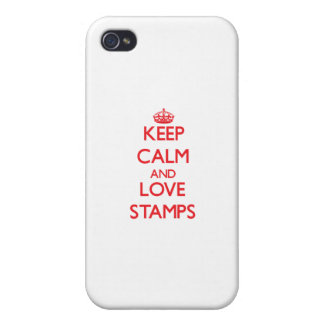 Keep calm and love Stamps Covers For iPhone 4