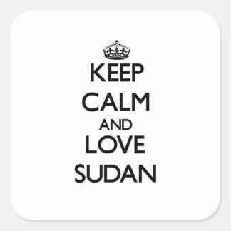 Keep Calm and Love Sudan Stickers