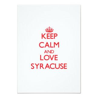 """Keep Calm and Love Syracuse 5"""" X 7"""" Invitation Card"""