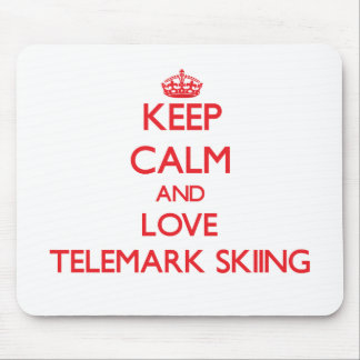 Keep calm and love Telemark Skiing Mouse Pads