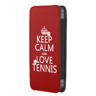 Keep Calm and Love Tennis (customize color)