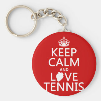 Keep Calm and Love Tennis (in any color) Key Ring