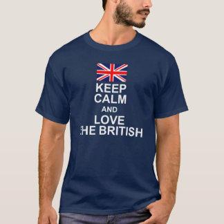KEEP CALM AND LOVE THE BRITISH FLAG T-Shirt