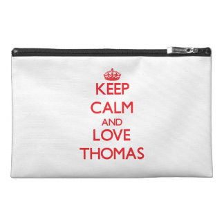 Keep calm and love Thomas Travel Accessories Bags