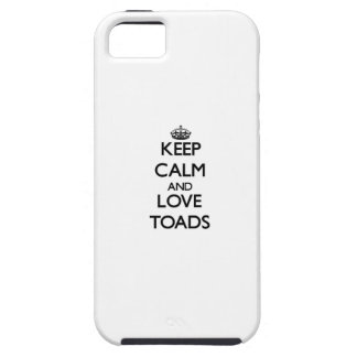 Keep calm and Love Toads iPhone 5 Cover