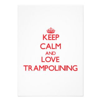 Keep calm and love Trampolining Personalized Invitation