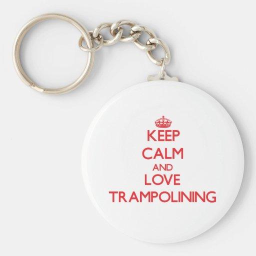 Keep calm and love Trampolining Keychain