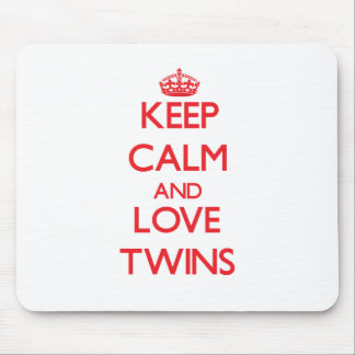 Keep calm and love Twins Mouse Pads