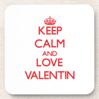 Keep Calm and Love Valentin Drink Coasters