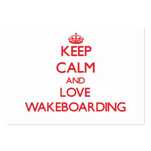 Keep calm and love Wakeboarding Business Card Template