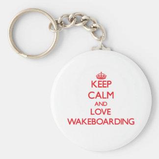 Keep calm and love Wakeboarding Key Chain
