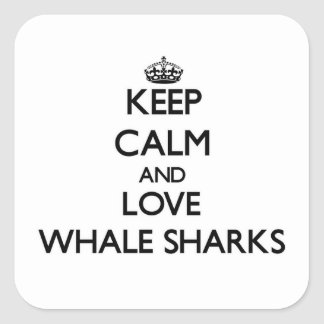 Keep calm and Love Whale Sharks Stickers