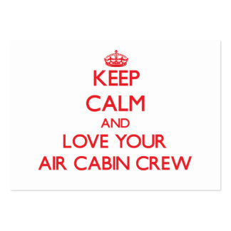 Keep Calm and Love your Air Cabin Crew Business Card Template